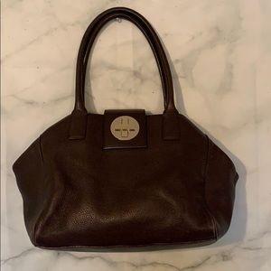 Kate spade brown leather shoulder purse